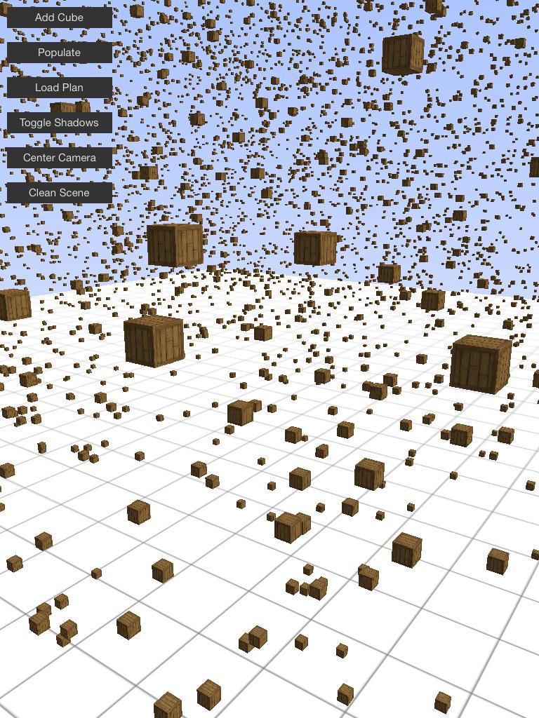 5000 cubes sans optimisations