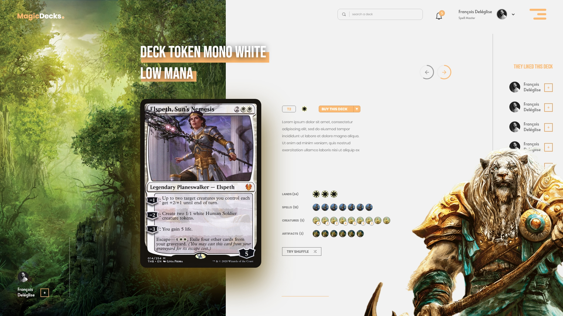 MagicDeck Canon Grid webdesign Exemple